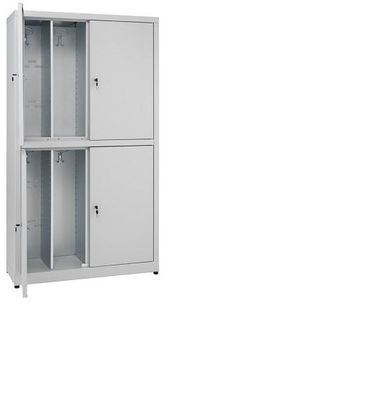 Armadio multi spogliatoio 4 posti zincoplastificato monoblocco dim. cm. 80x40x180h
